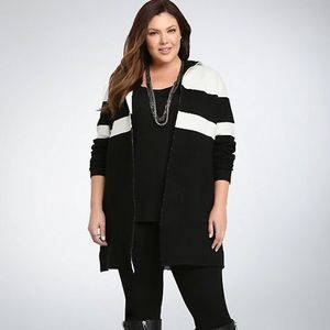 Torrid - Color block hooded sweater